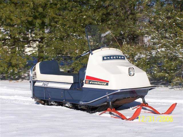 Vintage evinrude snowmobiles for sale right!